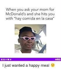 Meme Mcdonald - when you ask your mom for mcdonald s and she hits you with hay