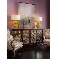 bayard hollywood regency espresso silver leaf mirrored lattice