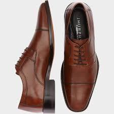 dress shoes brown cap toe lace ups s dress shoes j murphy by johnston