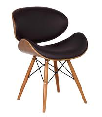 pieds de cuisine r lable chaise de bureau style eames dsw simili cuir marron pieds en bois