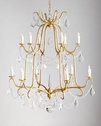 Horchow Chandeliers Marceline 12 Light Crystal Chandelier