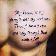quotes tattoos for with family meaning