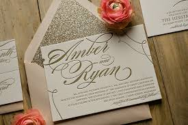 blush and gold wedding invitations 2014 trend alert pastels blush gold glitter wedding