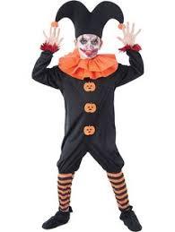 Clowns Halloween Costumes Deluxe Mens Evil Jester Costume Halloween Fancy Dress Scary
