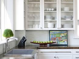 Decorative Glass Kitchen Cabinets Attractive Illustration Trendy Decorative Glass Cabinet Doors