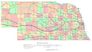 State Capitals Map Large Detailed Administrative Map Of Nebraska State With Roads