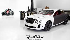 bentley wrapped project exodus matte black bentley supersports wrap northwest
