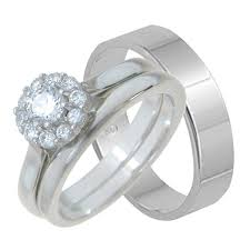 cheap wedding ring his and hers sterling silver wedding ring set looks real not cheap