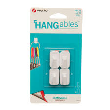HANGABLES Removable Adhesive Wall Hooks Set of 4