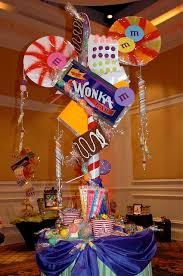 Candy Party Table Decorations Wonka Room Centerpiece Willy Wonka Chocolate Factory And Table