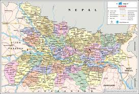 India States Map Map Of Bihar State In India You Can See A Map Of Many Places On