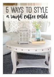 how to decorate a round coffee table 5 ways to style a round coffee table bloom burgeon