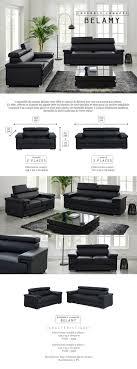poids canapé 3 places belamy ensemble de 2 canapés droit fixe 3 et 2 places simili noir