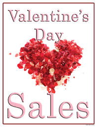valentines sales seasonal sale signs posters 22 x28 s day sale flowers