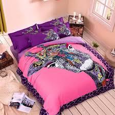 Giraffe Bed Set Bright Colored Giraffe Fashion Bedding Set King