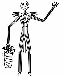 jack skellington coloring pages good 12342