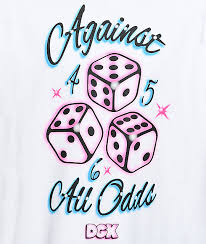 dgk against all odds white t shirt zumiez