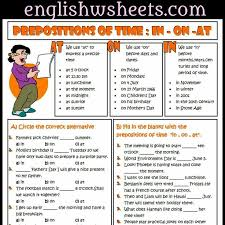 23 best anglais time prepositions images on pinterest english