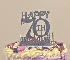 70th birthday cakes 70th birthday cake topper in silver acrylic dezign worx