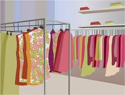clothes shop clothing store clip vector images illustrations istock
