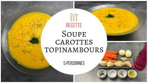 comment cuisiner les topinambours marmiton soupe carottes topinambours recette cook expert thermomix