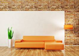 living room simple wall ideas diy living room full imagas brick wall with orange sofas the wooden