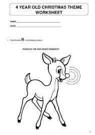 christmas theme worksheet for 4 year olds now working by miz lebowe