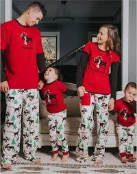 retail family pajamas sets antler printed family