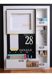 Wall Calendar Organizer System Diy Message Center With Chalkboard Blue Simply Kierste Design Co