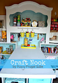 Craft Room Closet Organization - craftaholics anonymous craft room tour from fancy frugal life