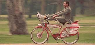 Drunk Yoga Meme - awesome drunk yoga meme pee wee herman bike find share on giphy