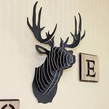 Deer Wall Decor Wooden Deer Head Ebay
