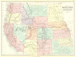 Northern United States Map by United States Pacific States Includes California Oregon Utah