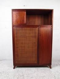 mid century modern storage cabinet unique mid century modern cane front storage cabinet storage