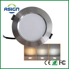 warm led recessed lights changeable led downlight 3w 5w 7w ceiling recessed light silver