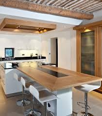 ilot cuisine avec table coulissante idee ilot cuisine cuisine avec ilot et grande table vos