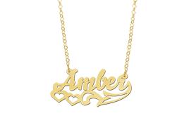 plated name necklace gold plated name necklace model
