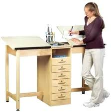 Cad Drafting Table Drafting Table With Storage Cad Drawing W 6 Drawer Cabinet