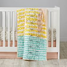 mod botanical crib bedding pink the land of nod