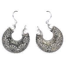 jhumki style earrings buy jewellery online cocktail style moon shape jhumki earring