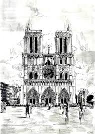 drawing notre dame paris coloring pages for adults justcolor