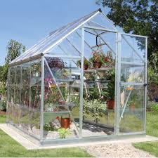 Palram Polycarbonate Greenhouse Palram Harmony 6x8 Polycarbonate Greenhouse Departments Diy At B U0026q