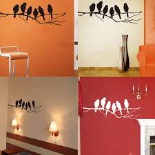 Wall Decal For Living Room Removable Birds Branch Tree Wall Stickers Home Art Decals Diy