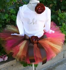 great fall or thanksgiving tutu set comes with top tutu and