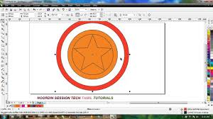 corel draw x4 tutorials tamil how to draw captain america logo in corel draw 2014 in tamil youtube