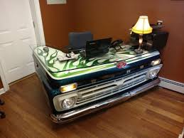 cool office desk old pickup truck gets turned into a cool office desk others