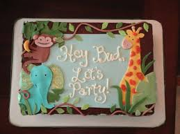 jungle theme baby shower sheet cake cakecentral com