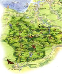 Devon England Map by Tourist Information To Help You Discover Ruby Country Rural Devon