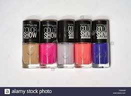 my wife u0027s maybelline nail polish color show by colorama stock