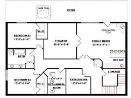 Walk Out Basement House Plans by Basement Floor Plans 1500 Sq Ft Decoration